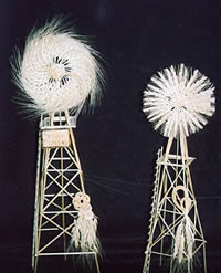 Windmills made from wheat