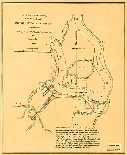 Map of Fort Derussy